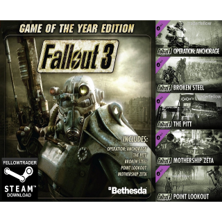 Fallout 3 GOTY Game of the Year - Steam - INSTANT
