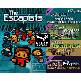 The Escapists + 4 DLC - Steam - PC+Mac - INSTANT DELIVERY