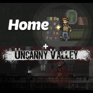Home + Uncanny Valley - Pixel Horror Bundle - Steam INSTANT