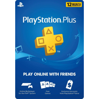 Playstation Plus 12 Month PS+