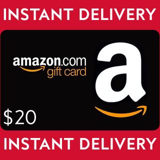 $20.00 Amazon Gift Card
