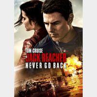 Jack Reacher: Never Go Back 4K * Vudu *