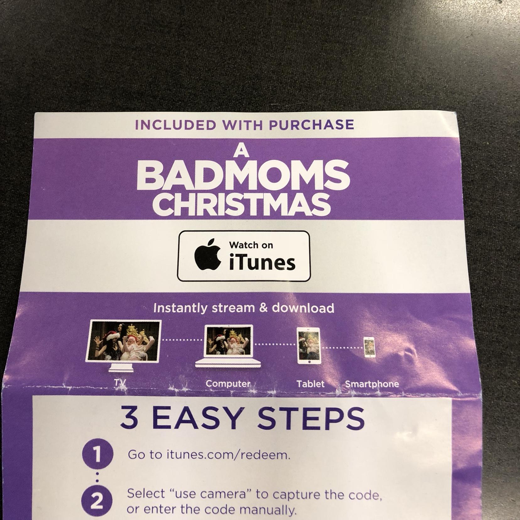 A Bad Moms Christmas HD ITUNES - Digital Movies - Gameflip