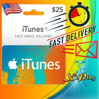 $25.00 iTunes Gift Card 25 USD (Instant Delivery)