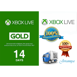 Xbox Live Gold 14 Days INSTANT DELIVERY