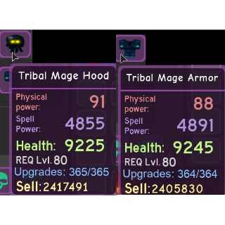 Gear | Tribal mage set