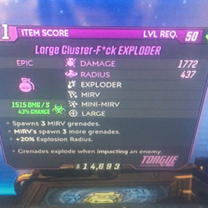 Grenade | corrosive cluster f^ck