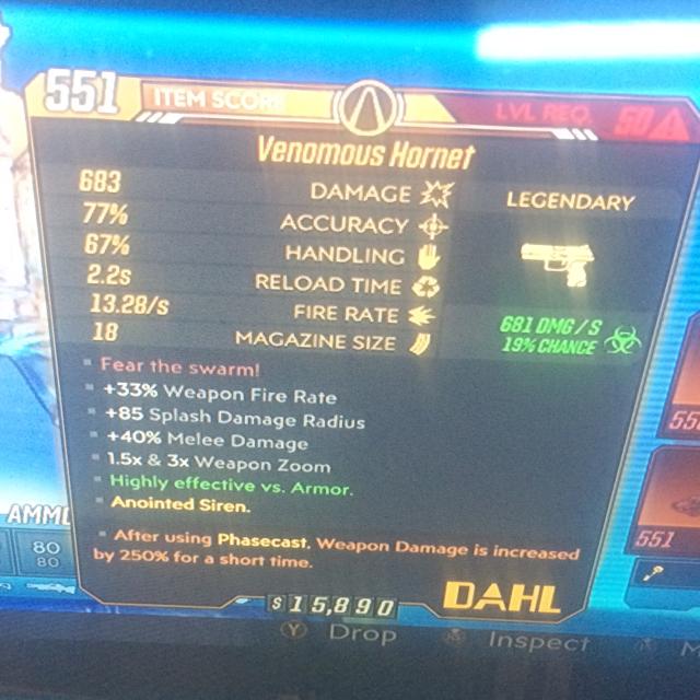 Weapon | 250 cast venomous hornet