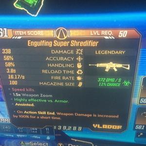 Weapon | 100 and 125 corrosive super shredder
