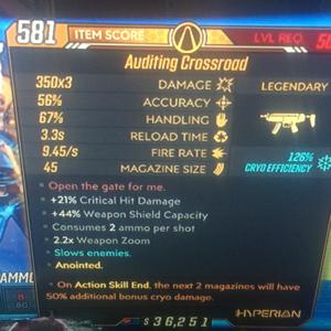 Weapon | double cyro cross roads