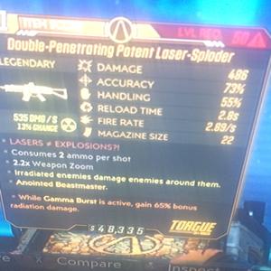 Weapon | gamma burst laser sploder