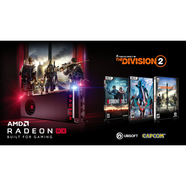 Resident Evil 2,The Division 2,Devil May Cry 5 -AMD VOUCHER