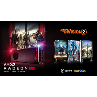Resident Evil 2,The Division 2,Devil May Cry 5 -AMD VOUCHER  - Instant delivery