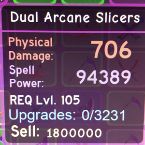 Gear | Dungeon Quest - Dual Arcane Slicers