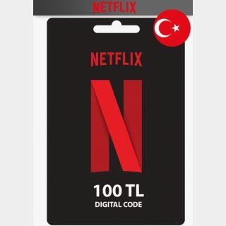 Netflix 100 Turkish Lira (Turkey) Instant Delivery