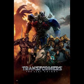 Transformers: The Last Knight HD UV iTunes
