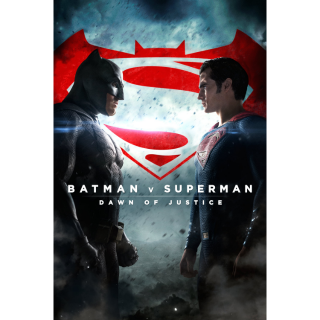 Batman v Superman: Dawn of Justice + 3 Hour Extended edition (2 movies) HD Movies Anywhere