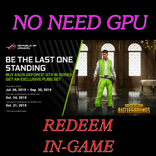 PUBG | Nvidia TrackSuit CODE