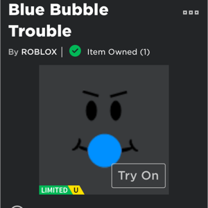 Collectibles   LIMITED BLUE BUBBLE TROUBLE