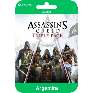 Triple Pack - Assassin's Creed: Black Flag, Unity, Syndicate - Xbox One Digital Code (AR)
