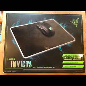 Razer Invicta dual sided gaming mouse mat Aluminum base