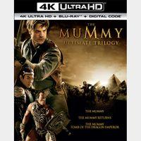 The Mummy Trilogy (4K UHD / Movies Anywhere)
