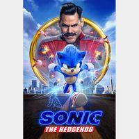 Sonic the Hedgehog (4K UHD / VUDUN / iTunes / FANDANGONOW)