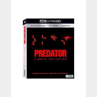 Predator 4 - Movie Collection (4K UHD / MOVIES ANYWHERE / VUDU)
