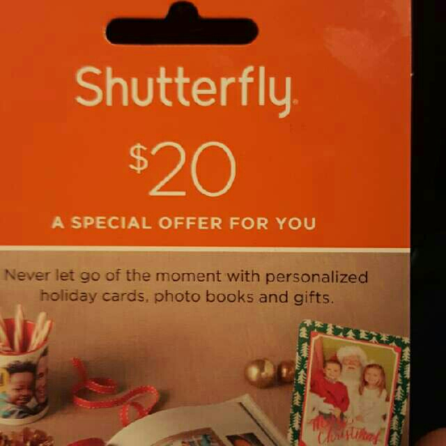 Shutterfly gift card where to buy