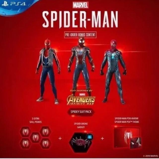 Marvel S Spider Man Preorder Dlc Items Ps4 Ps4 Games Gameflip