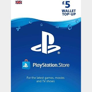 £5.00 Playstation Store 🇬🇧 Key/Code UK Account [𝐈𝐍𝐒𝐓𝐀𝐍𝐓 𝐃𝐄𝐋𝐈𝐕𝐄𝐑𝐘]
