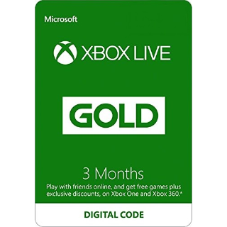 3-Month Xbox Live Gold (Global Code) expires Aug 15th, 2020