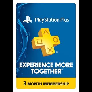 Psn Plus - 3 Month (US/ Canada /Mexico) [Digital Code]