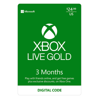 Xbox Live 3 Month Gold Membership 🇺🇸 [Digital Code] expires 9/25/2020