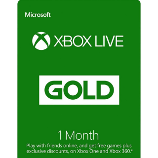 1-Month Xbox Live Gold (Global)