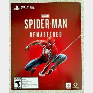 Spider-Man Remastered PS5 (Digital Code)