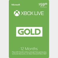 Xbox Live Gold 12 Months 1 Year Subscription Membership Brazil  🇧🇷