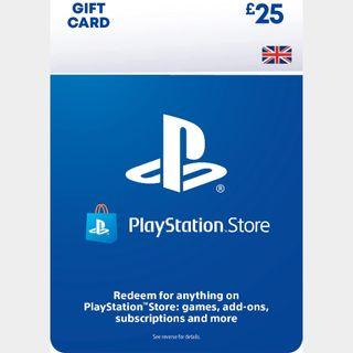 £25.00 Playstation Store 🇬🇧 Key/Code UK Account [𝐈𝐍𝐒𝐓𝐀𝐍𝐓 𝐃𝐄𝐋𝐈𝐕𝐄𝐑𝐘]