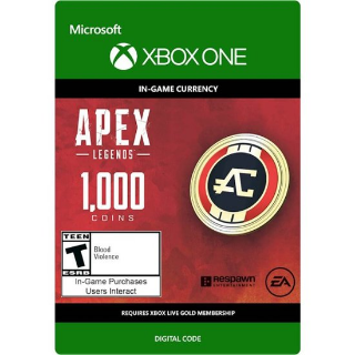 Apex Legends - 1000 Coins Virtual Currency - Xbox One Instant Delivery Global