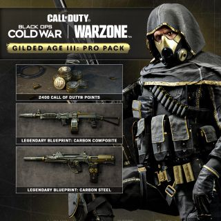 Call of Duty Warzone Gilded Age 3 Carbon Sentinel 2400 COD Points Xbox One