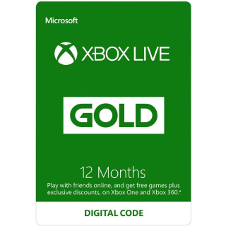XBOX LIVE GOLD 12 MONTH /  GLOBAL (DIGITAL CODE)