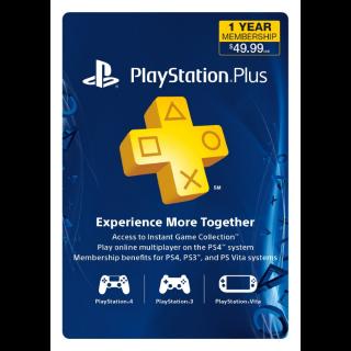 PSN Plus -12 Month (US/ Canada /Mexico) [Digital Code]