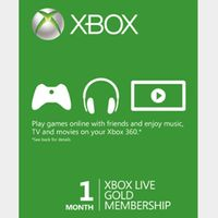 1-Month Xbox Live Gold (GLOBAL) [𝐈𝐍𝐒𝐓𝐀𝐍𝐓 𝐃𝐄𝐋𝐈𝐕𝐄𝐑𝐘]