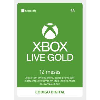 12-Months Xbox Live Gold (Brazil Region)