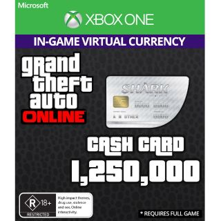 GTA V 5 Great White Shark Cash Card Xbox One (Digital Code)