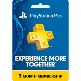 Psn Plus - 3 Months (US/ Canada /Mexico)