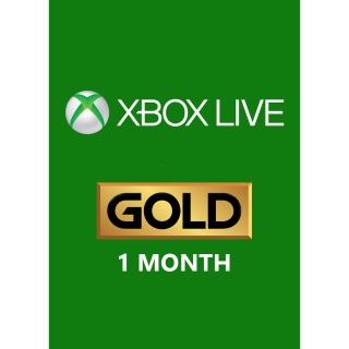 1-Month Xbox Live Gold (GLOBAL) [INSTANT DELIVERY]