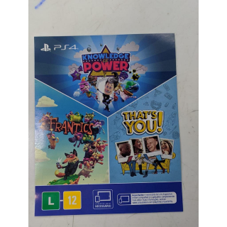 Bundle: That's You!+ Knowledge is Power+ Frantics (PS4 Digital Code)