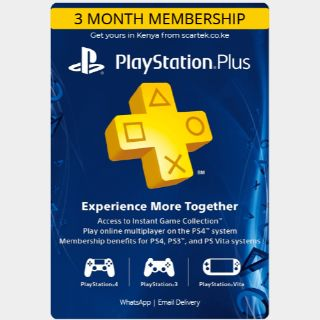 PS Plus 3 Month US [𝐈𝐍𝐒𝐓𝐀𝐍𝐓 𝐃𝐄𝐋𝐈𝐕𝐄𝐑𝐘]