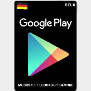 🇩🇪 €5.00 Google Play Germany